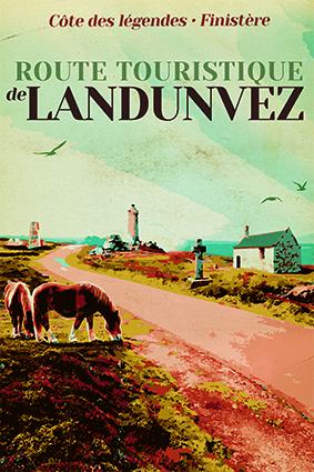AFFICHE ROUTE TOURISTIQUE DE LANDUNVEZ
